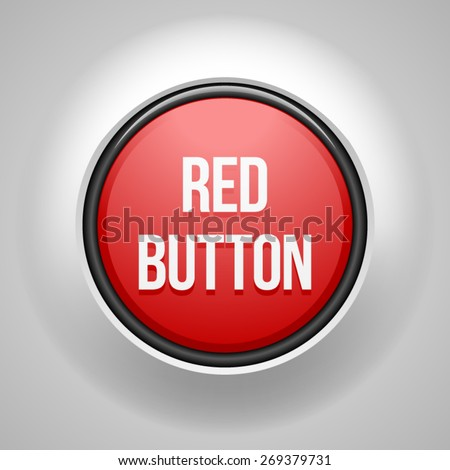 Red Button - stock vector