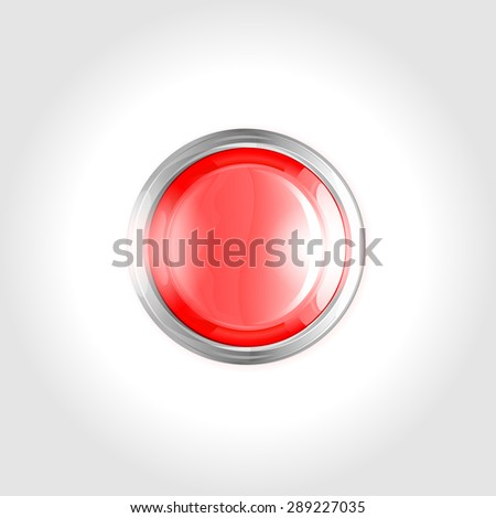 Red Button vector (don't push)