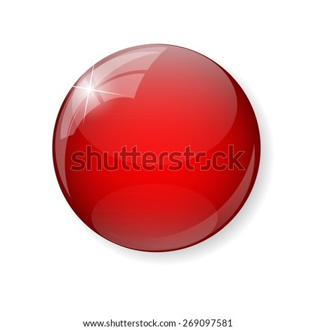 Red  Button Vector Illustration EPS10