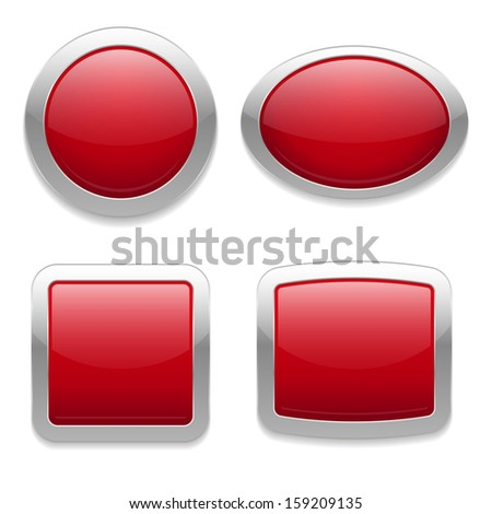 Red buttons in four different forms