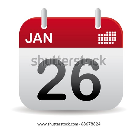 Red calendar of january - stock vector