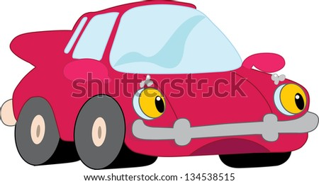 Red car - stock vector