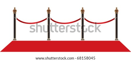 red carpet - stock vector