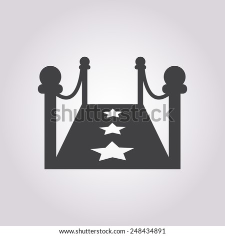 Red carpet icon. - stock vector