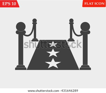 Red carpet icon.Vector illustration - stock vector