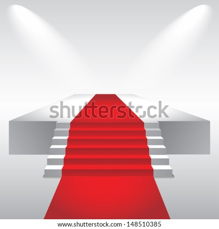 red carpet of glory - stock vector