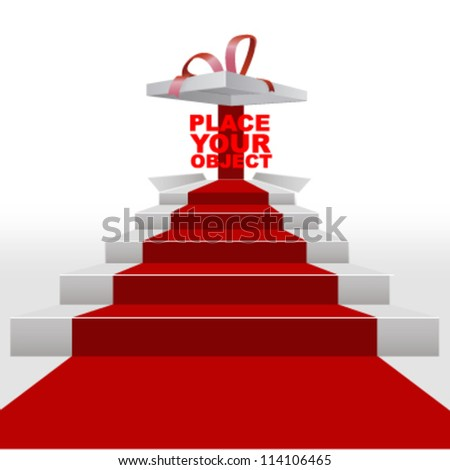 red carpet show stage. vector background