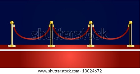 red carpet vector - stock vector