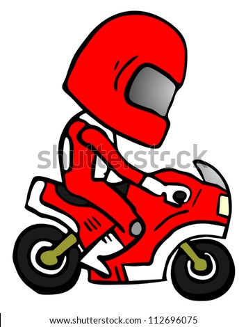 Red champion speed - stock vector