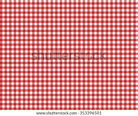 red checkered picnic tablecloth - stock vector