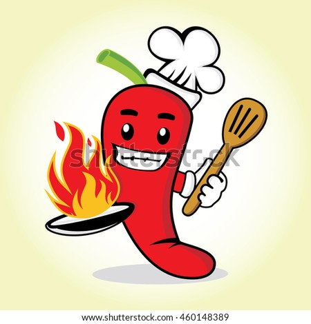 Red Chili Cute Chef