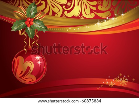 red christmas backdrop with own ball