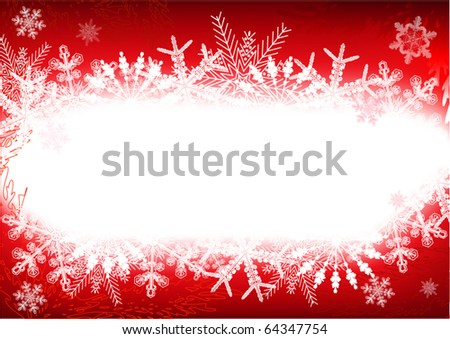 Red Christmas background - stock vector
