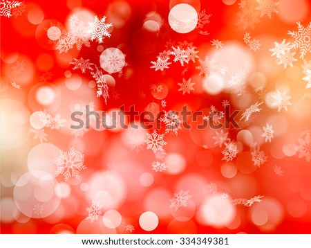 Red Christmas background. EPS 10 vector file included - stock vector