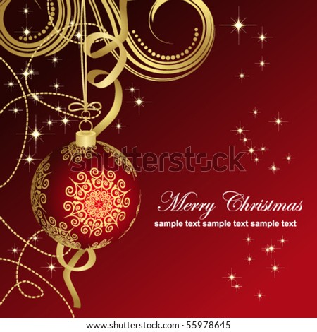 Red Christmas balls. - stock vector