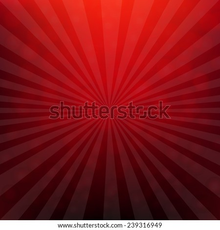 Red Christmas Poster With Bokeh With Gradient Mesh, Vector Illustration - stock vector