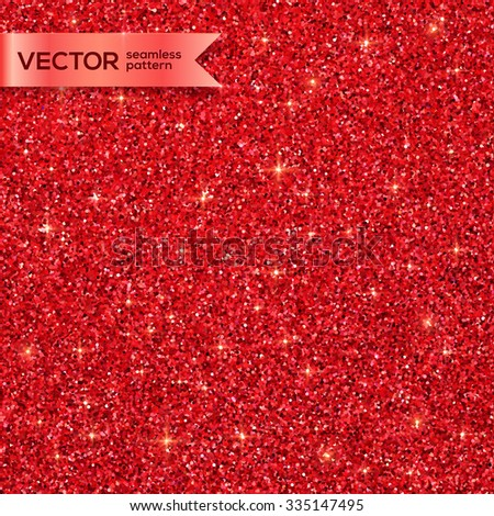 Red Christmas shining glitter vector seamless pattern - stock vector