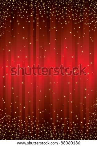 red christmas sparkle background - stock vector