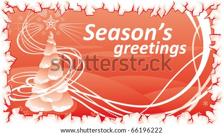 red christmas template swirly tree stock vector 66196222 shutterstock