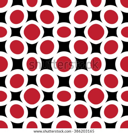red circles abstract texture, seamless pattern, vector art illustration
