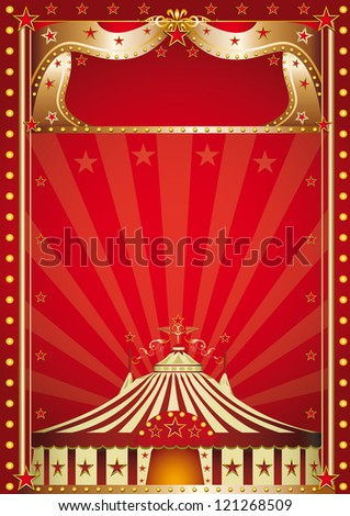 Red circus. A circus poster for your show - stock vector