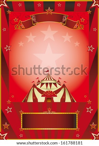 red circus vintage poster. A new circus poster for your company. - stock vector