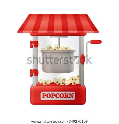 red classic popcorn machine