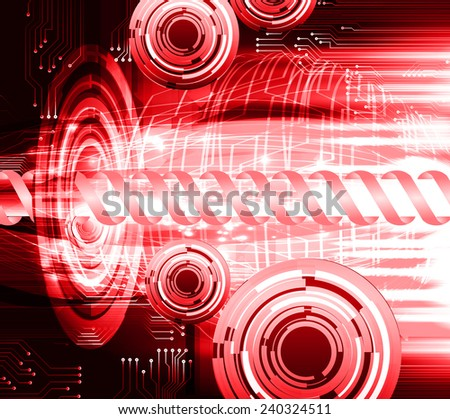 red color abstract technology background for for computer graphic website internet and business - stock vector