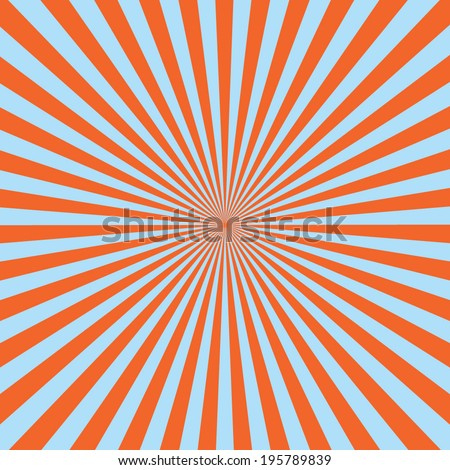 red color burst background. Vector illustration  - stock vector