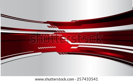 red color Light Abstract Technology background for computer graphic website internet and business. circuit. silver background. label. card