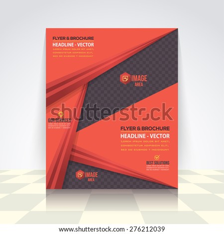 Red Colors Business Concept Flyer, Brochure Design. Corporate Leaflet, Cover Template - stock vector