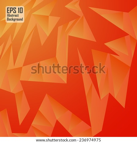 Red cubism abstract background - stock vector