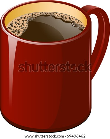 Red cup of coffee - stock vector
