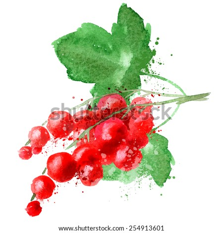 red currant vector logo design template. fruit or food icon. - stock vector
