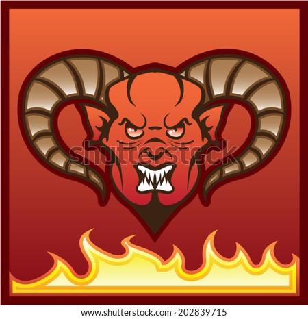 Red Demon Vector Devil - stock vector