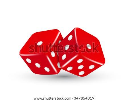 red dice, vector red dice, casino dice, object red dice, element dice, background casino dice, red casino dice, casino dice eps10, illustration casino dice - stock vector