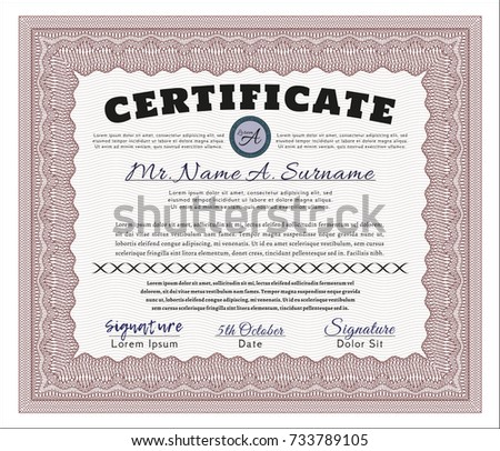 red certificate template diploma template complex stock vector  red diploma template or certificate template nice design complex background detailed