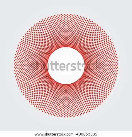Red dot design and background