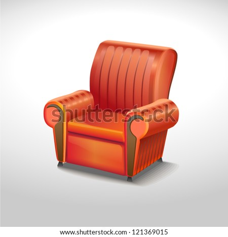 red elegance chair - stock vector