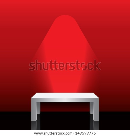 red element of interior  - stock vector