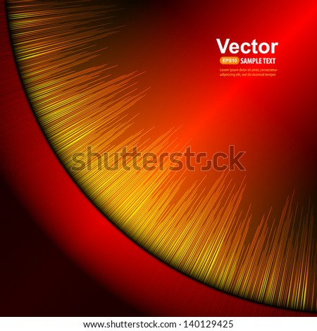 Red equalizer - stock vector