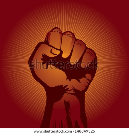 Red Fist - stock vector