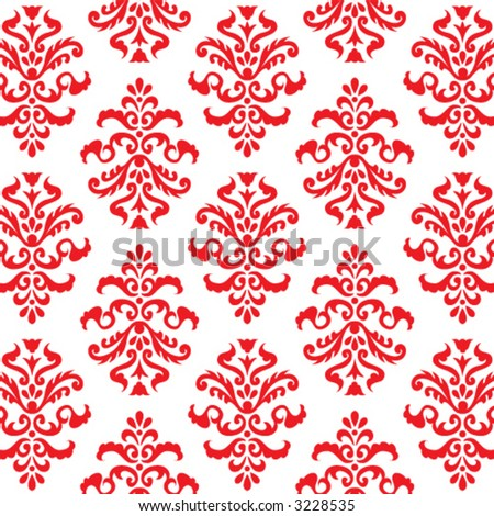 RED FLORAL PATTERN VOL. SUMMER 01 - stock vector