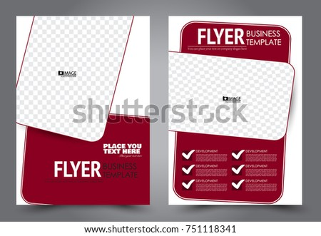 Red Flyer Template Design Brochure Abstract Stock Vector