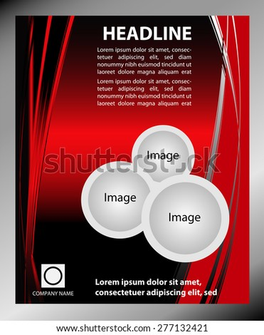 Red Flyer Template Vector Stock Vector 277132421 - Shutterstock