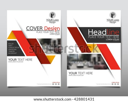 Red fold annual report brochure flyer design template vector, Leaflet cover presentation abstract geometric background, layout in A4 size - stock vector