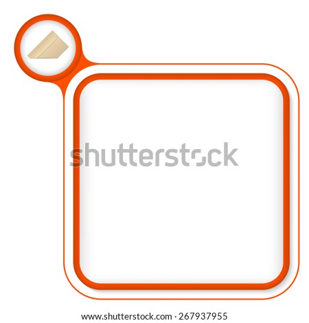 Red frame for your text and envelope - stock vector