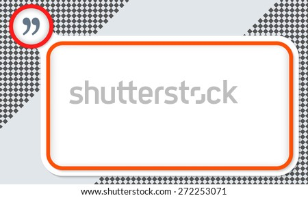 Red frame for your text and quotation mark - stock vector