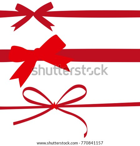 Red gift ribbons stock vector 770841157 shutterstock red gift ribbons negle Image collections