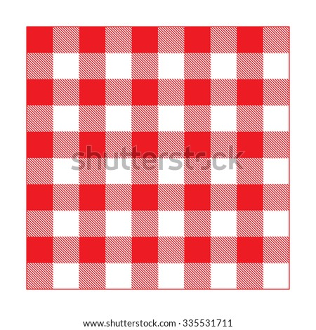 red gingham tablecloth seamless pattern  - stock vector